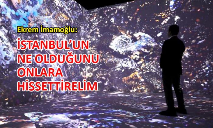 İBB Başkanı İmamoğlu, Anadol'un sıra dışı sergisini gezdi