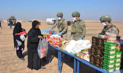 MSB, Barış Pınarı bölgesinde insani yardımda