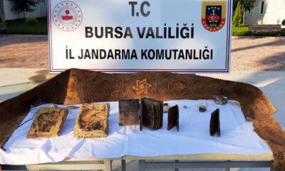 Bursa Mudanya'da 3 milyon lira değerinde tarihi eser ele geçirildi